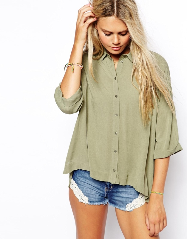 Lacoste Oversize-Bluse in Knitteroptik